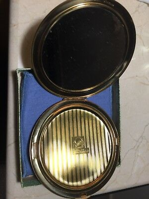 Large Gold Stratton Pressed Powder Compact