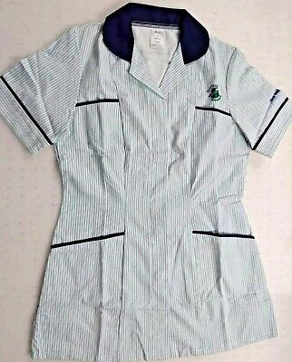 Alexandra Work Wear White Blue Green Striped Short Sleeve Tunic Stirling Council