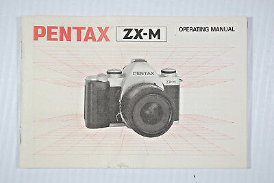 Genuine PENTAX ZX -M  SLR 35mm CAMERA OWNERS INSTRUCTION MANUAL