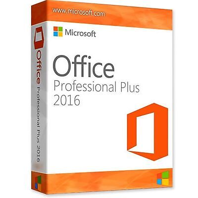Microsoft Office 2016 Professional Plus For Windows Product Key License 1-8hours