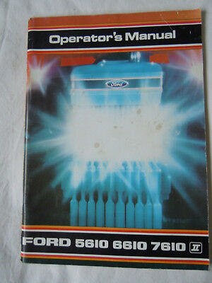 @Vintage Ford 5610 6610 7610 Tractor Operator's Manual@