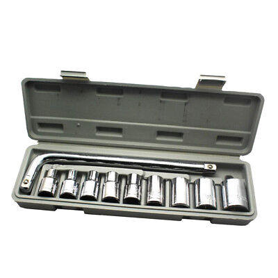 Car Tool 10pcs 1/2 Inch Ratchet Socket Wrench Set Drive Socket Set Repairing
