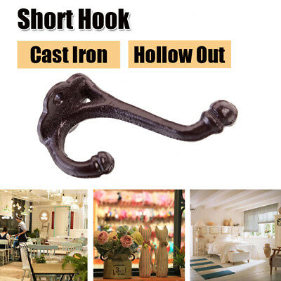 Cast Iron Hollow Out School Style Coat Hooks Hat Hook Rack Hall Tree BrownishRed