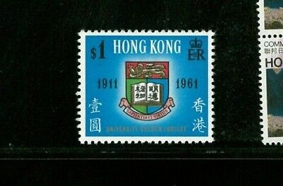 ( Hkpnc ) Hong Kong 1961 Hk University $1 Vf Um Gold Shift Vareity Vf Um Scarce