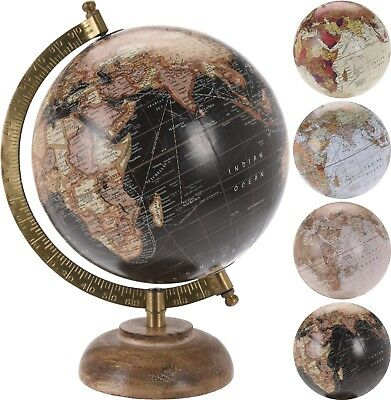"6"" Vintage Style Rotating Globe Swivel Map Earth Geography Atlas World Gift Toy"