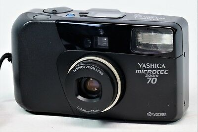 Vintage Yashica Microtec Zoom 70 35mm Compact. Case, Manual & Strap