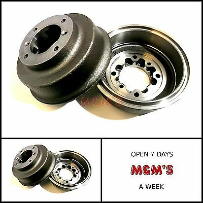 2 x CLASSIC MINI REAR BRAKE LATE SPACED DRUMS (PAIR) ALL MODELS 1984-2000