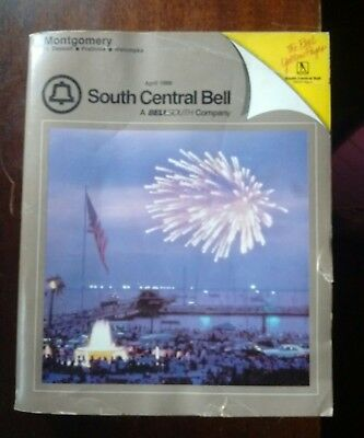 Montgomery Alabama 1986 South Centeral Bell Telephone Directory Phone Book