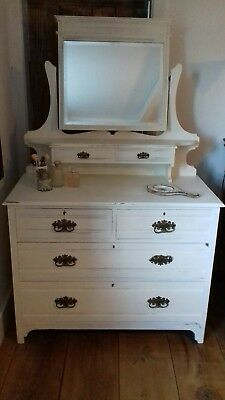 Painted Chest of Drawers with Mirror