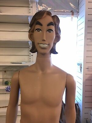Vintage Look Mens Male Full Body Shop Window Display Clothing Mannequin Dummy