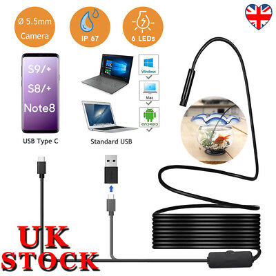 5.5mm 6 LED Waterproof Endoscope Borescope Inspection Camera for Android iPhone