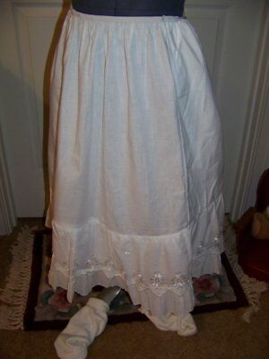 Vintage STONESWEAR Wash N Wear Half Slip-Eyelet & Pin Pleat-Pinked Seams-Size 3X