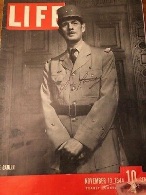 Life Magazine signed by Charles de Gaulle