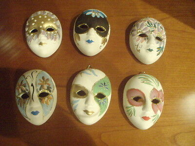 Maschere In Veramica Decorate-Ceramic Masks Decorated
