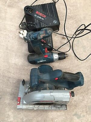 Bosch Circular Saw 18v And Drill Extra Fast Charger And Standard Charger