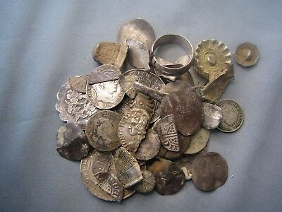 Large Collection of Scrap Silver Metal Detecting Finds
