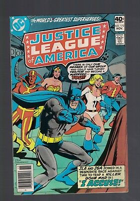 DC Comics Justice League of America no 172 Nov 1979 JLA & JSA join 40c USA