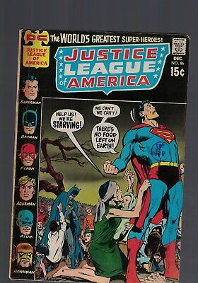 DC Comics Justice League of America no 86 Dec 1970 15c usa