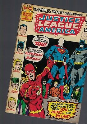 DC Comics Justice League of America no 89 May 1971 15c usa