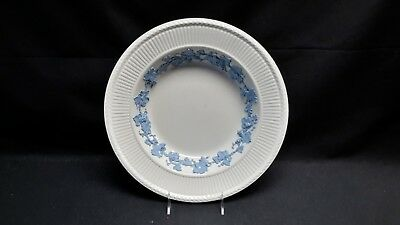 """RARE Wedgwood England Queensware 2804 Edme Blue Grapes Large 12 1/2"""" Rimmed Bowl"""