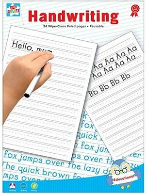 Wipe And Clean Handwriting Practice book Learning To Write 16 Ruled Pages
