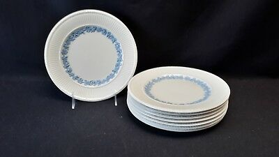 Wedgwood England Queensware 2804 Edme Blue Grapes Set of 8 Salad Plates (Faults)