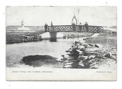STEVENSTON Postcard Ayrshire Jubilee Bridge & Fountain 1903 Postmark