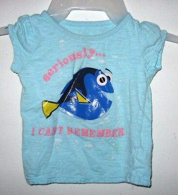 Disney Finding Dory Seriously I Can't Remember Light Blue Girls T-Shirt 18 24 M