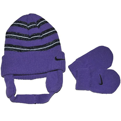 Nike Toddler Girls Knit Hat and Mitten Set 2/4T
