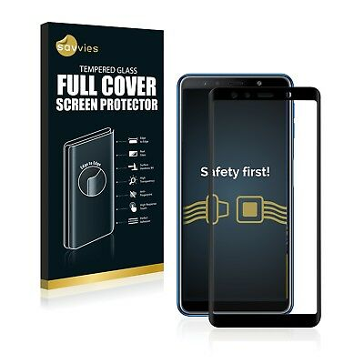 Full Cover Samsung Galaxy A7 2018 9H Tempered Glass Screen Protector Film black