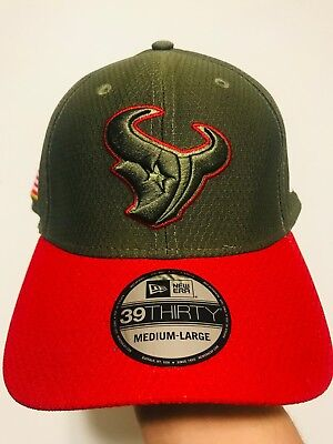 official photos 34f9e 02836 New Era Houston Texans 39THIRTY 2017 NFL Salute To Service Sideline Hat M L
