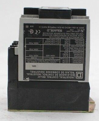 Square D 8501 XO-40 Industrial Control Relay
