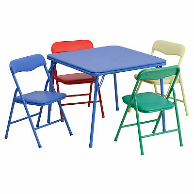 Flash Furniture Kids Colorful 5 Piece Folding Table and Chair Set JB-9-KID-GG