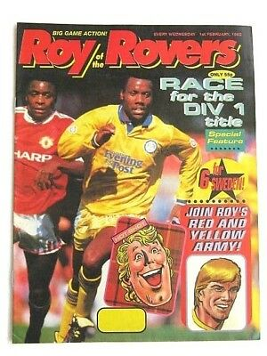 1 x ROY of the ROVERS COMIC. 1st FEB 1992. HAMMERSMITH FC, HOT SHOT HAMISH etc