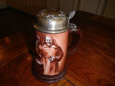 Antique Ceramic Stein by Lenox w/Sterling Lid c. 1890's