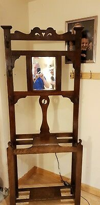 Antique coat and hat stand