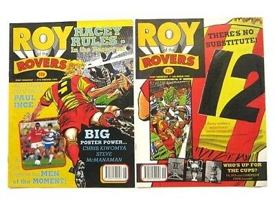 2 x ROY of the ROVERS COMICS. FEB & MARCH 1993. BUSTER'S GHOST, DREAM KEEPER etc