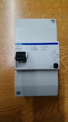 Doepke DFS4 63A 30mA RCCB in Enclosure New Unused 10ka 240/415v 4 Pole
