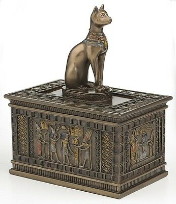 Bastet Egyptian Cat God Jewelry Trinket Box Statue Figurine - *HOME DECOR GIFT*