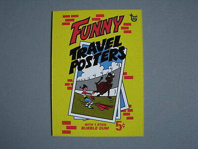 2018 Topps 80Th Anniversary Wrapper Art Card 1967 Funny Travel Posters
