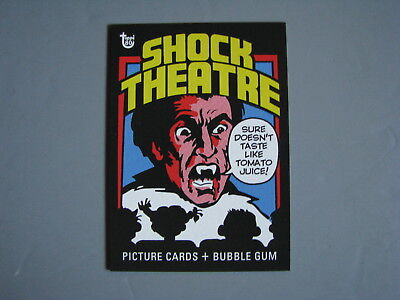 2018 Topps 80Th Anniversary Wrapper Art Card 1975 Shock Theater Movies