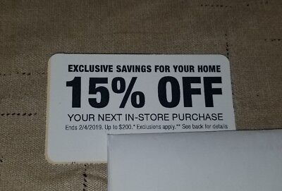 15% OFF Home Depot - In store ONLY Save up to $200 - Fast Shipment Expires 2/4