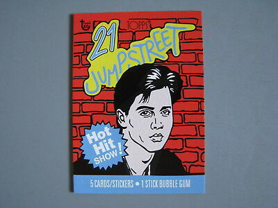 Topps 80Th Anniversary Wrapper Art 1987 21 Jumpstreet Tv Show Trading Card
