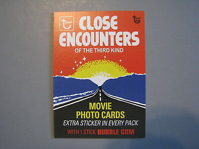 Topps 80Th Anniversary Wrapper Art 1978 Close Encounters Of The Third Kind Movie