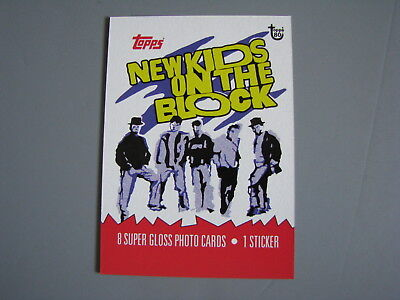 Topps 80Th Anniversary Wrapper Art 1989 New Kids On The Block Trading Card
