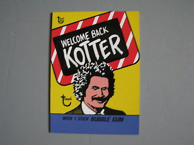 Topps 80Th Anniversary Wrapper Art 1976 Welcome Back Kotter Tv Show Trading Card