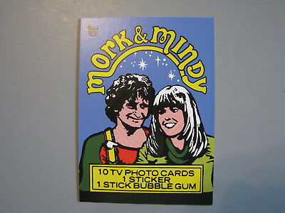 Topps 80Th Anniversary Wrapper Art 1978 Mork & Mindy Trading Card