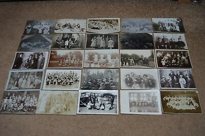 Collection job lot vintage GROUPS OF PEOPLE postcards c1900 - 1930 old fashion 2