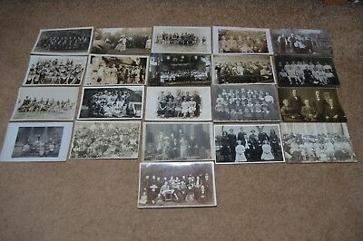 Collection job lot vintage GROUPS OF PEOPLE postcards c1900 - 1930 old fashion 3