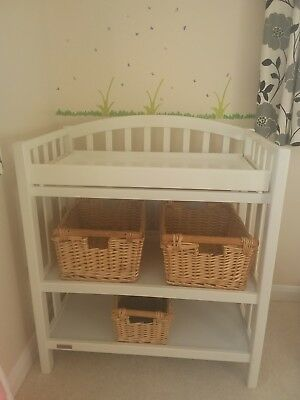 Mamas & Papas changing unit in white wood